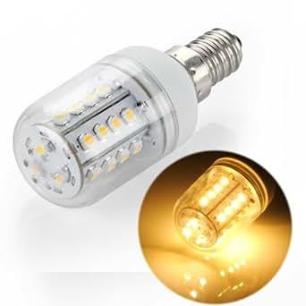E14 Ampoule Lampe Spot 3528 SMD 27 LEDs Blanc Chaud 85-265V 3W 3600K Pr Maison