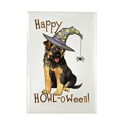 oween GSD–Rechteck Magnet, 5,1x 7,6cm Kühlschrank Magnet (Trick Or Treat Lustige Hunde Halloween)