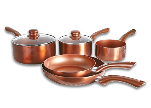 Cermalon 5-Piece Ceramic Set, Aluminium, Copper, 46 x 29 x 13 cm