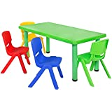 Playgro Rectangular Table with 4 Chairs - PSF-115 For Kids (48*24*20 Inch) (Colour May Vary)