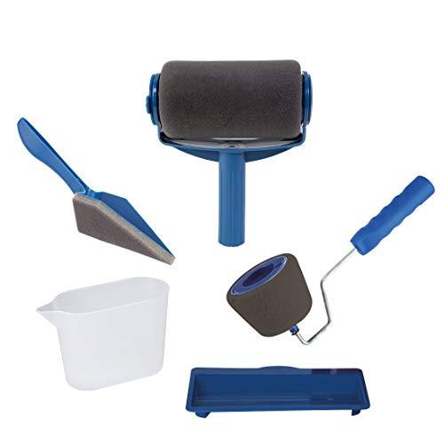 Gsaknc set di rullo per pittura multifunzione professionale pennello,rullo per pittura rullo pittura anti gocciolamento 5 pz/, facile da usare,compresi nel kit