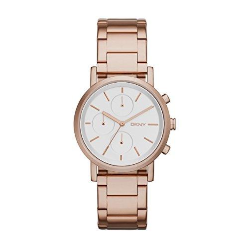 DKNY NY2275Soho Chronograph Watch Women's Watch Stainless Steel 50M Analog Chrono Rose