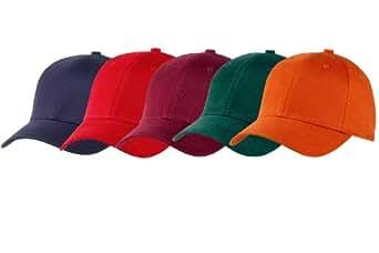 Lot de 5 casquettes Prestige Adulte taille S couleurs foncées (Lot n°4)