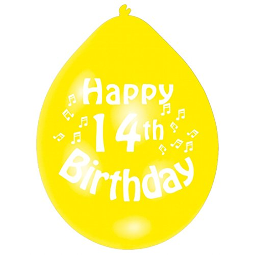 Amscan 22.8 cm  14. Geburtstag 10 Luftballons (Dress Up Birthday Party Supplies)