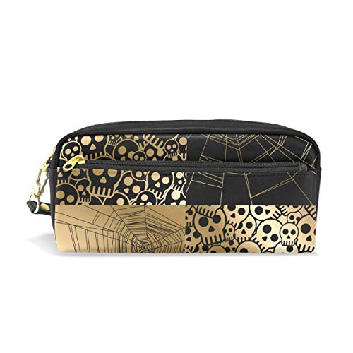 ISAOA Federmäppchen mit Reißverschluss für Schreibwaren, Vektor, Halloween, Federmäppchen, Kosmetiktasche, Make-up-Tasche, Weihnachtsgeschenk für Mädchen und Jungen