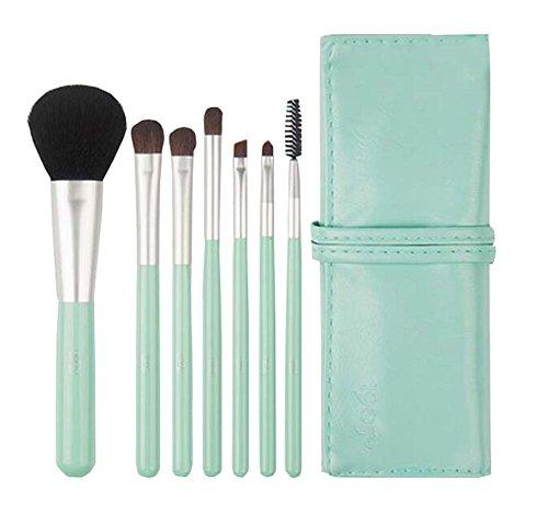 Un ensemble de 7 PCS femmes Kit maquillage Brush avec support