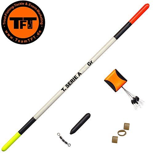 TFT Tremarella Set Federkiel Forellenpose zum Forellenangeln, Pose für Forellen, Angelpose für Forellensee, Forellenposen, Tragkraft:4g