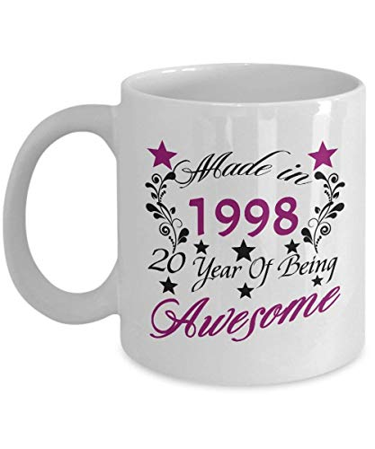 Happy 20th Birthday Mugs for Teen 11 OZ - 20 Year Old Girl Gifts Ideas -  20th Birthday Gifts for Girls Teen, Her, Sister, Niece, Daughter for  Birthday