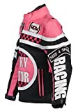 Mädchen Motorradjacke in rosa für Kinder, Bikerjacke, Racing Jacke (L)