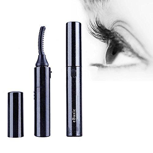 eBasic Wimpernzange Make-up-Tool Mini Portable Electric Heated Eyelash Curler Augen Beauty Tool für Wunderbare Schmerzfreie Geschwungene Wimpern (Elektrischer Ebene)