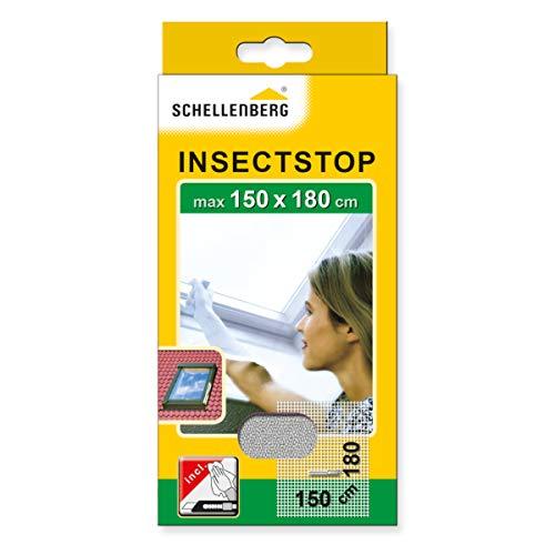 Schellenberg 50328 Fliegengitter für Dachfenster mit Reißverschluss, 150 x 180 cm, Weiß