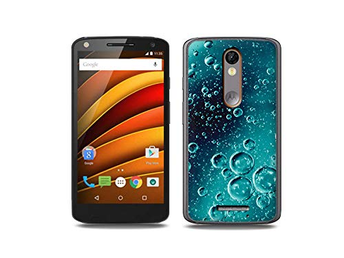 etuo Handyhülle für Motorola Moto X Force - Hülle, Silikon, Gummi Schutzhülle - Tröpfchen