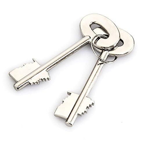 Relaxdays Mini Wandtresor mit Schlüssel, Stahl, Doppelbolzenverriegelung - 6
