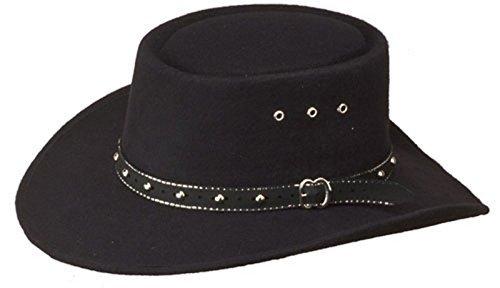 Western Faux Felt Gambler Cowboy Hat -Black S/M by Western Express (Express Western Hats)