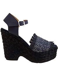 Chanclas Mujer Sandalias Amazon Zapatos Y es Rafia Para BqIPS