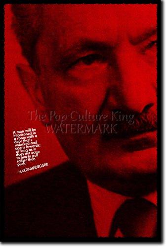 Martin Heidegger Kunstdruck Hochglanz Poster - Größe: 12 x 8 Inches (30x20cm)