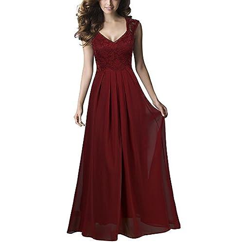 Abendkleider Lang Rot: Amazon.de