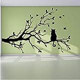 Qbbes Autocollant Mural 66 * 44 CM Vente Chaude Moderne Salon Amovible Chat Pvc Sur...