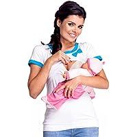 Zeta Ville - T-shirt arco allattamento prémaman disegno a strati - donna - 996c