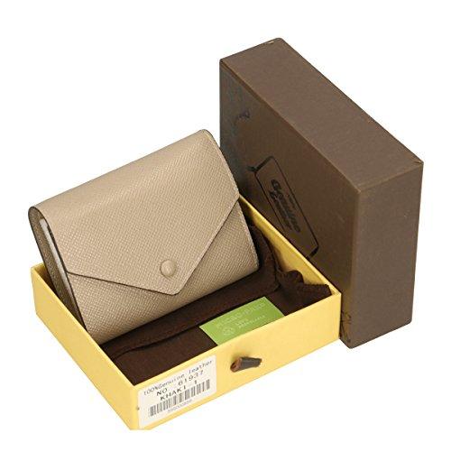 Chicca Borse Portafogli in pelle 12x9x3 100% Genuine Leather Fango