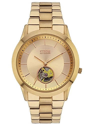 Storm Sorena Gold Men's Automatic PVD Gold Plated Stainless Steel Case and Bracelet Japanese Automatic Movement Watch - 47259/GD