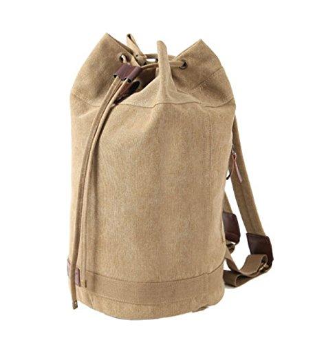 BULAGE Paket Im Freien Schultern Rucksäcke Lässig Einfarbig Leinwand Männer Und Frauen Mode Eimer Persönlichkeit Bequemlichkeit Einkaufen Ausgehen OneColor