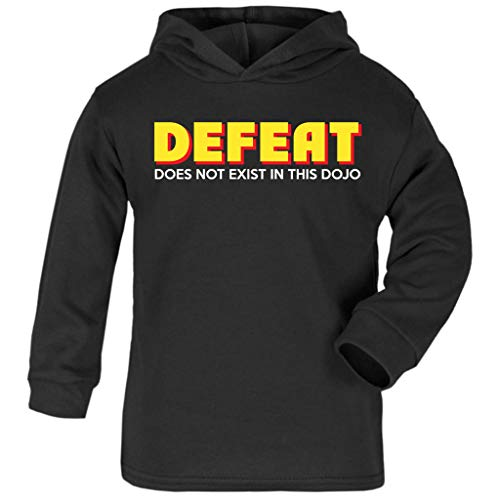 Cloud City 7 Cobra Kai Fear Pain and Defeat Do Not Exist In This Dojo Baby and Kids Hooded Sweatshirt