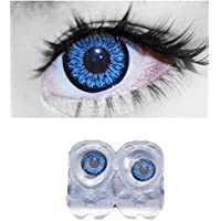 SOFT EYE Diamond Eye (dark blue) monthly contact lens with case and solution By T&R Lens