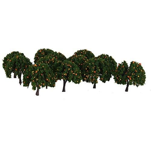 ho-maquette-train-electrique-jouef-accessoire-lot-20-arbre-fruit-orange-6cm