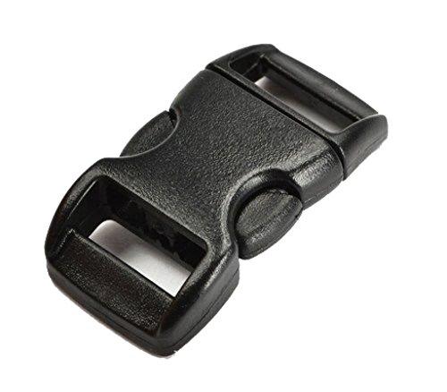 SALAKA 10 St/ück 20mm Riemenbreite schwarz Kunststoff Gurtband Leiter Schiebeschnallen Schloss Kunststoffschnallen