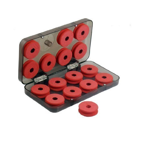 sourcingmap-rosso-schiuma-da-pesca-linea-16-pezzi-bobina-spoletta-bobine-con-plastica-scatola-custod