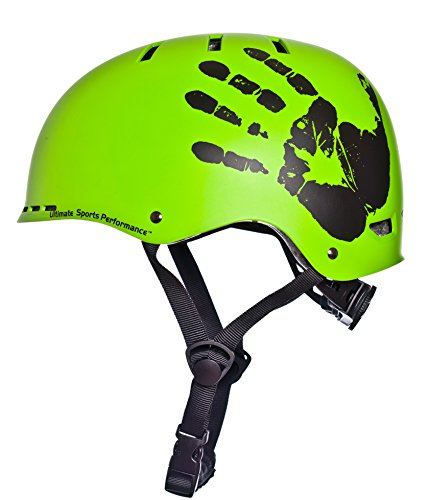 Sport Direct™ The Hand™ BMX Helmet Green 55-58cm Best Price and Cheapest