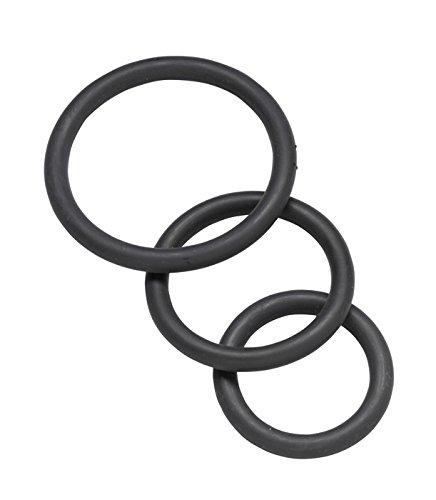 Spartacus 3 Penis-Ringe aus Nitrile in schwarz