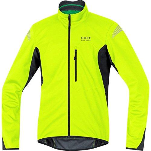 GORE BIKE WEAR Herren Warme Soft Shell Fahrrad-Jacke, GORE WINDSTOPPER, ELEMENT WS SO Jacket, Größe: XL, Neon Gelb/Schwarz, JWSMEL