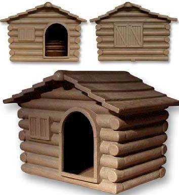 TELCOM - Caseta para perros (resina, tamaño grande)