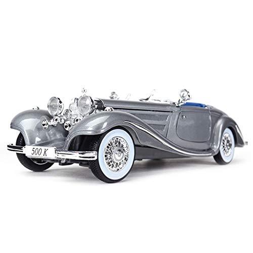 TOY Lernspielzeug, Jungenspielzeug, Mädchenspielzeug, Autospielzeug, Automodelle, Modellauto 1:18 Racing - Mercedes - Mercedes 500K Automodelllegierung Simulation Automodell Original Collection Gesch