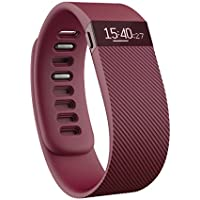 Fitbit Charge Wireless Activity Tracker with Sleep Wristband (Burgundy)