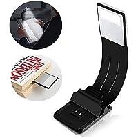 Kindle Luces, Toolove Lámpara de Lectura LED Recargable USB, Libro Luz LED Plegable con Clip para Libros, Revistas, eReader, eBook, Tableta, Kindle, iPad, Viajes, etc. (Negro)
