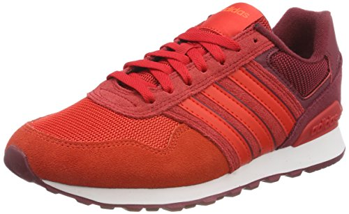 adidas 10K, Scarpe Running Uomo, Rosso (Cburgu/Corred/Solred 000), 45 1/3 EU