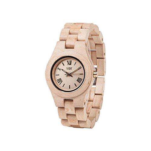 Reloj WeWood Criss Beige 70210200000al cuarzo (batería) madera quandrante Marrón Correa madera