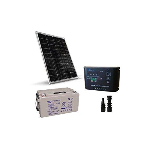 Kit Solar Pro 100W 12V Placa Solar Monocristalino + Controlador de carga 10A-PWM + Batería AGM 60Ah El Kit Solar Pro son ideales para aquellos que aman y quieren utilizar la energía solar. Ellos son el trampolín perfecto para el enorme potencial que...