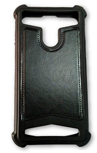 BKDT Marketing Rubber and Leather Soft Back Cover for MICROMAX A190 Canvas HD Plus with Dislay Window and Stand - Black  available at amazon for Rs.320