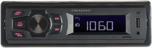 Creasono MP3-Autoradio (1-DIN): MP3-Autoradio CAS-500 mit Wiedergabe von USB & microSD, 4X 7 W (Autoradios USB)