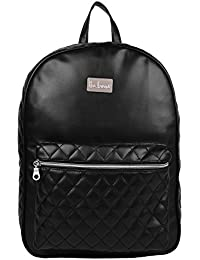Anekaant Duvet Black PU Backpack
