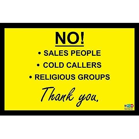 No. Cold Callers–Vendite persone–Gruppi religiosi, Sign/adesivo/vinile porta 150mm x 100mm - Adesivo Religiosi