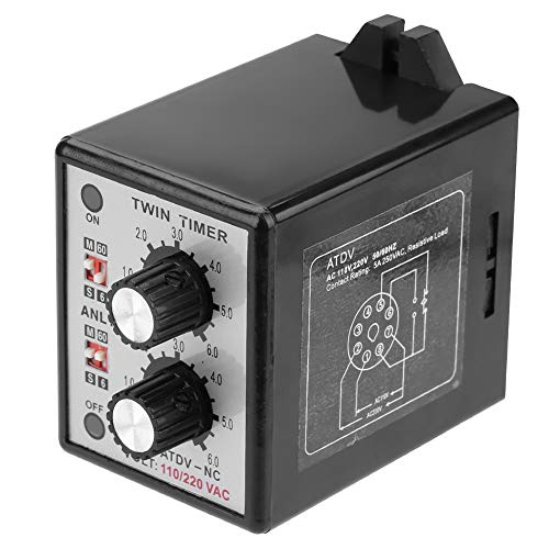 Twin Timer Relais On Off Knob-Steuerzeitschalter 6S-60M AC 220V -