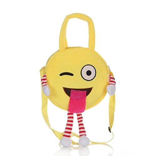 Coolster Nette Schule Tasche Emoji Emoticon Handtasche Kinder Schultertasche Rucksack Satchel Rucksack (B(3#)) (Kleine Capri-sandalen)