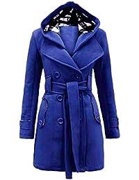 25ab7fc38e9dc Mantello con Cappuccio Donna Eleganti Autunno Invernali Taglie Forti  Cappotto di Transizione Tempo Libero Lunghi Sottile Fashion…