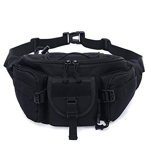 Yimiky Wasserbeständige Taktische Hüfttasche, Tragbare militärische Hüfttasche Tactical Chest Pack Leichte Gürteltasche Hüfttasche Gürteltasche mit verstellbarem Gurt für das tägliche Leben - A02 -