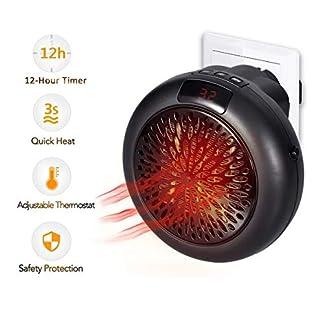Calentador Instantáneo Termostato Cerámico Mini Calefacción Calefactor Eléctrico Calefactor de Ventilador para Enchufe de Potencia